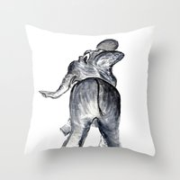 ellie goulding Throw Pillows featuring Ellie by Judith Lee Folde Photography & Art