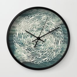 Mandala Ocean Waves Wall Clock