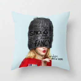 London Bits N' Bobs Throw Pillow