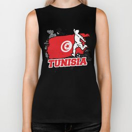 Football Worldcup Tunisia Tunisian Soccer Team Sports Footballer Rugby Gift Biker Tank