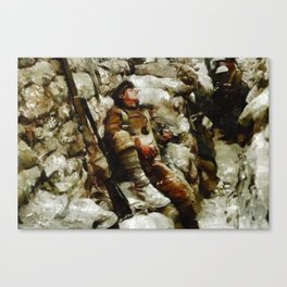 In The Trenches, WWI Canvas Print