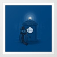 dr who Art Prints featuring Dr Who Who? by Quick Brown Fox