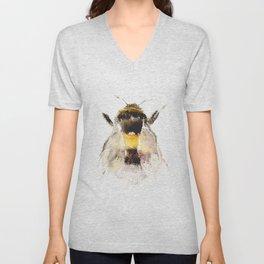 Bumblebee, fuzzy bee Unisex V-Neck