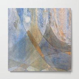Corduroy Alps Metal Print
