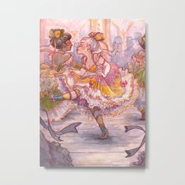 Brightly Colored Petticoats and Frills Metal Print