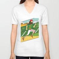 run V-neck T-shirts featuring Run by Derek Eads