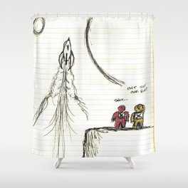 Ditched: A Story About Space, Steve, And Having Your Rocketship Stolen Shower Curtain