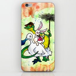 The Dodo, the White Rabbit, and Bill the Lizard iPhone Skin