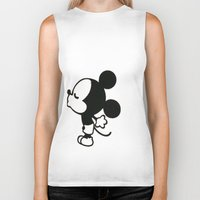 mickey Biker Tanks featuring mickey by ABTD