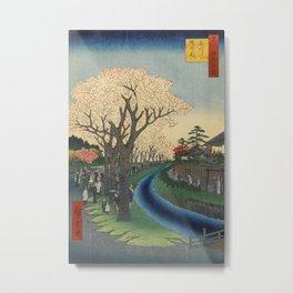 Spring Cherry Trees Blossoms Ukiyo-e Japanese Art Metal Print