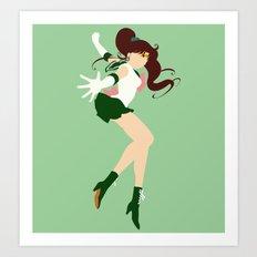 Sailor Jupiter (Green) Art Print