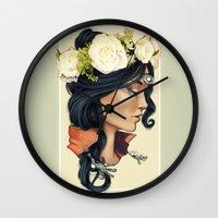 loish Wall Clocks featuring Bohemian Girl by ArianeTorelli