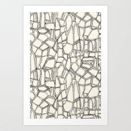 BROKEN black off white Art Print