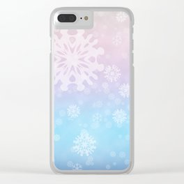 Flakes of snow Clear iPhone Case