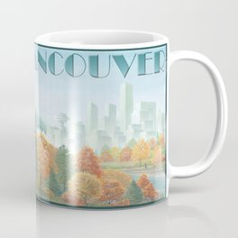 Vancouver Two Worlds Collide Landscape Painting Coffee Mug