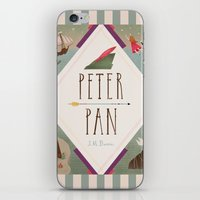 peter pan iPhone & iPod Skins featuring Peter Pan by emilydove