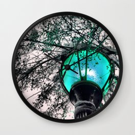 Blue Mystery Wall Clock