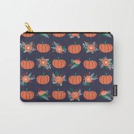 Pumpkin florals cute pattern pillow home decor dorm college seasonal fall autumn Carry-All Pouch