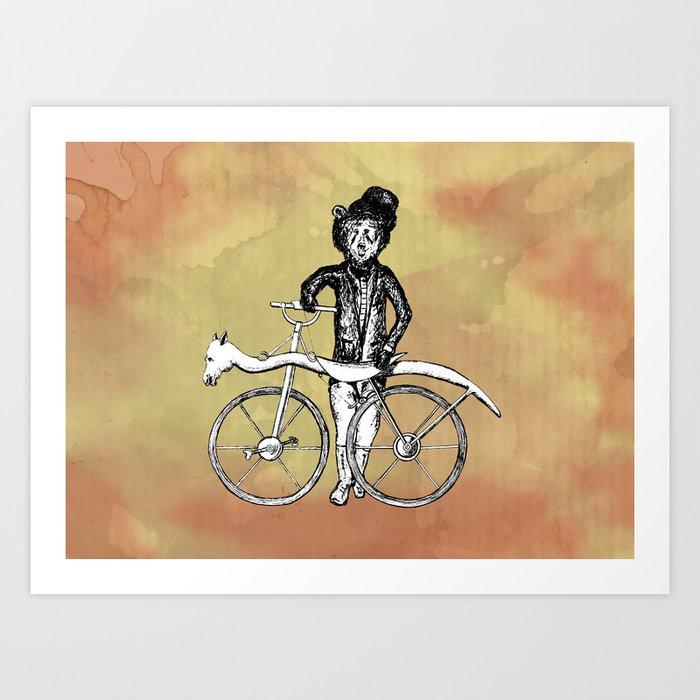 Bear's Bike Art Print