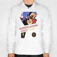 gurren lagann Hoodies featuring NES Gurren Lagann by IF ONLY
