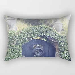 Charleston Black Garden Gate Rectangular Pillow