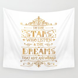 To the Stars - White Wall Tapestry