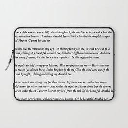 Annabel Lee Edgar Allan Poe Classic Poem Laptop Sleeve