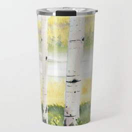 Behind The Birch Trees Travel Mug