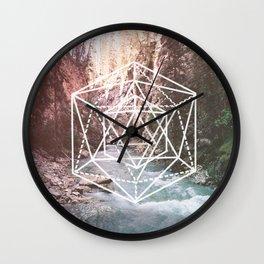 River Triangulation Wall Clock