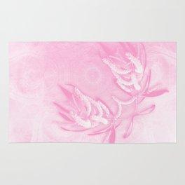 Wattle and kaleidoscope in pink Rug