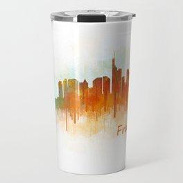 Frankfurt am Main, City Cityscape Skyline watercolor art v3 Travel Mug
