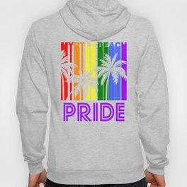 Myrtle Beach Pride Gay Pride LGBTQ Rainbow Palm Trees Hoody