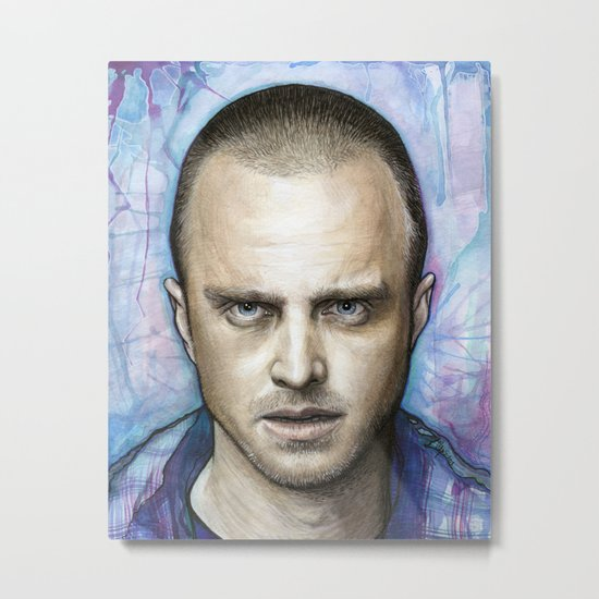 Jesse Pinkman Portrait Metal Print