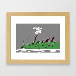 Dirtbag Dragon Framed Art Print