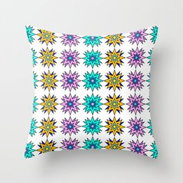 Rainbow Star Pattern Throw Pillow