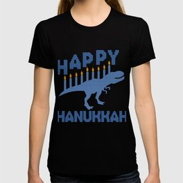 Dinosaur Hanukkah Jewish Festival Gift T-shirt