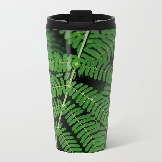 Green Ferns Metal Travel Mug