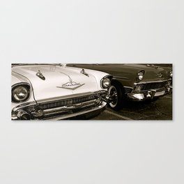 Chevy Bel Airs Canvas Print