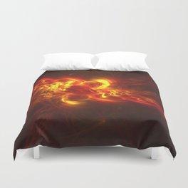 Fractal Flame Explosion Duvet Cover
