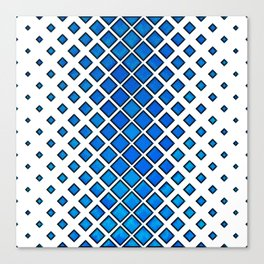 Diamonds Large to Small - Blue Canvas Print