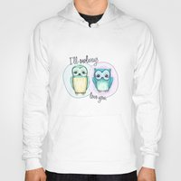 owls Hoodies featuring owls by techjulie