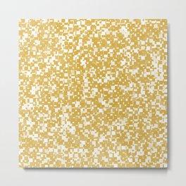 Spicy Mustard Pixels Metal Print