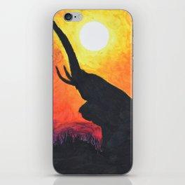 Elephant Sunset iPhone Skin