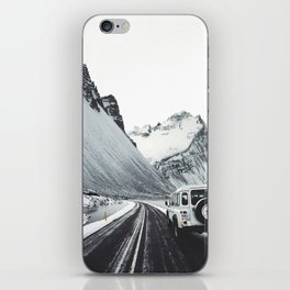 on the road in iceland iPhone Skin