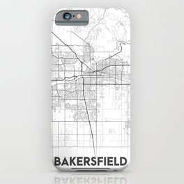 """""""Minimal City Maps - Map Of Bakersfield, California, United States iPhone Case"""