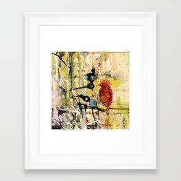 dans le silence Framed Art Print