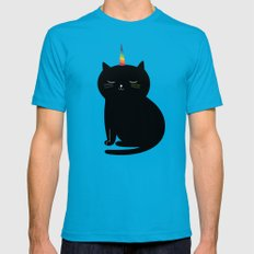 Caticorn Mens Fitted Tee MEDIUM Teal