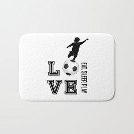 Eat, Sleep, Play  Love Volleyball Bath Mat