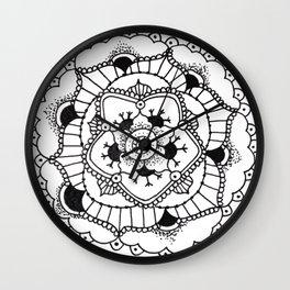 Black and White Manadala Pt 3 Wall Clock