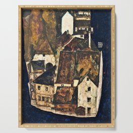 Egon Schiele - Dead City III, City on the Blue River III - Digital Remastered Edition Serving Tray